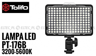 Lampa Panelowa LED 3200-5600K, model Tolifo PT-176B
