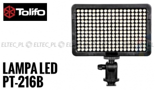 Lampa Panelowa LED 3200-5600K, model Tolifo PT-216B