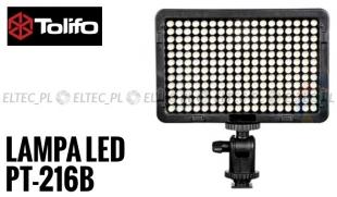 Lampa Panelowa LED 3200-5600K, model Tolifo PT-216B