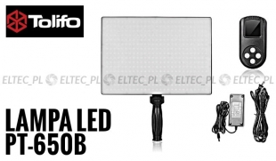 Lampa Panelowa LED 3200-5600K, model Tolifo PT-650B