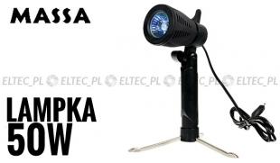 Lampa halogenowa na stojaku 50W GU10
