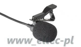Mikrofon pojemnościowy STEREO z klipsem BY-LM20, do kamer GoPro Hero 2, 3, 3+, 4, 5