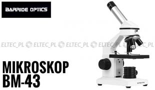 Mikroskop BM-43,  przybliżenie 40-400x