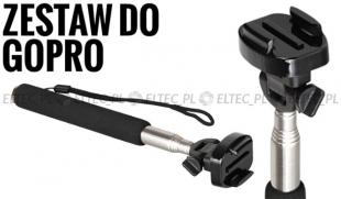 ZESTAW: monopod B czarny + adapter statywowy na szybkozłączkę do GoPro