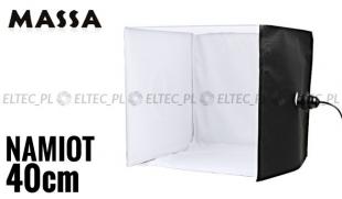 Namiot 40x40x40cm z żarówkami 22W + statyw