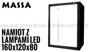 Namiot 160x120x80 z lampami LED