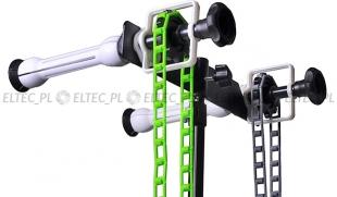 Łańcuszkowy system zawieszania teł na dwa tła - statywowy NG-2W