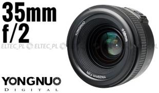Obiektyw stałoogniskowy YONGNUO 35mm f/2 do Nikon