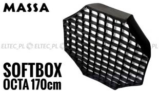 Softbox ośmiokątny OCTA 170cm z Gridem - mocowanie Bowens