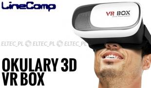 Gogle okulary 3D VR BOX II biało-czarne