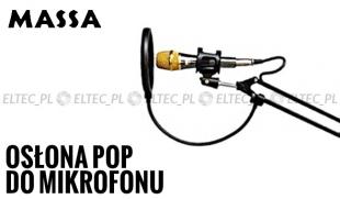 Osłona mikrofonu pop filtr, pop killer
