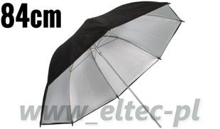 Parasolka odbijająca srebrno-czarna 84cm