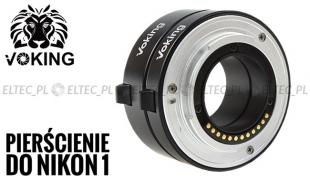 Pierścienie pośrednie makro do Nikon 1  auto AF, metalowe styki