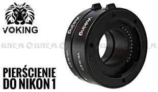 Pierścienie pośrednie makro do Nikon 1  auto AF, plastikowe styki