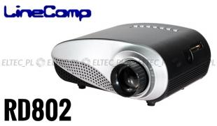 Projektor, rzutnik do komputera 480x320 RD802