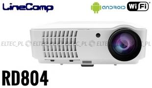 Projektor, rzutnik do komputera 1280x800 RD804 + tuner TV, Wi-fi i Android