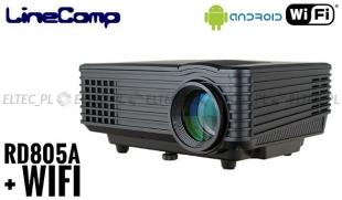 Projektor, rzutnik do komputera 800x480 RD805A + Wi-fi i Android