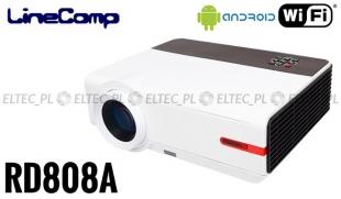 Projektor, rzutnik do komputera 1280x800 RD808A + tuner TV, Wi-fi i Android