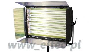 WYPRZEDAŻ - KINOFLO Panelowa lampa światła stałego 1650W 6x55W, model RDG-06