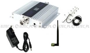 Wzmacniacz sygnału GSM 900Mhz, repeater + antena żeberkowa