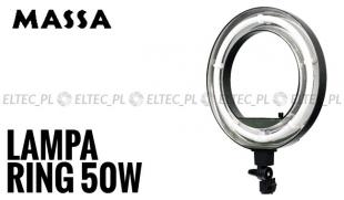 """Lampa pierścieniowa fluorescencyjna RING 18"""" 50W ŚCIEMNIACZ"""