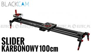 Slider karbonowy kamerowy VIDEO 100cm z kołowrotkiem (z łożyskami)