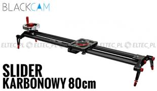 Slider karbonowy kamerowy VIDEO 80cm z kołowrotkiem (z łożyskami)