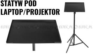 Statyw z pulpitem pod laptop, projektor 75-140cm
