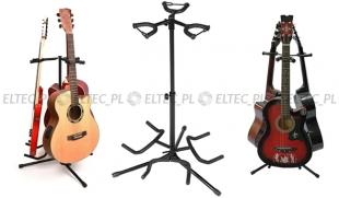 Statyw na trzy gitary wysoki z blokadą gryfu (90-105cm)