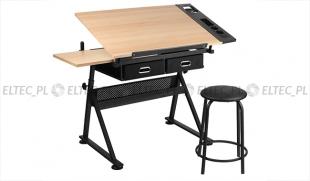 Regulowany stół kreślarski z krzesłem