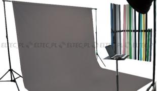 Tło kartonowe 2,72 x 11m na tulei / kolor nr. 159 STORM GRAY szare