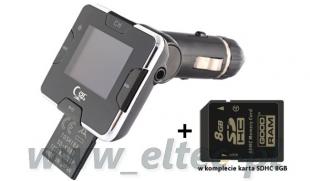 T892 Transmiter FM USB z RDS + KARTA PAMIĘCI SDHC 8GB
