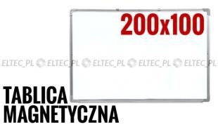 WYPRZEDAŻ 30%  - Tablica suchościeralna magnetyczna 200x100