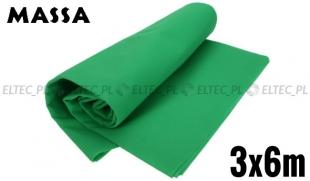 Tło materiałowe zielone 3x6m GREEN SCREEN