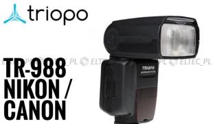 Lampa błyskowa Triopo TR-988 Dual Canon Nikon TTL
