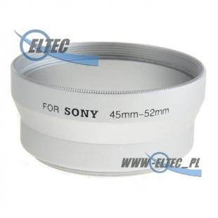 Tulejka do SONY DSC-S70/S75/S85 52mm (srebrna)