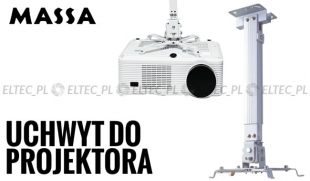 Uchwyt wieszak na projektor  aluminium 14-65cm