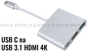Adapter USB-C HDMI 4K 3.1 do MacBook