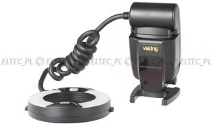 Lampa błyskowa pierścieniowa MAKRO RING, model VK-100C do Canon (Manual) - WYPRZEDAŻ