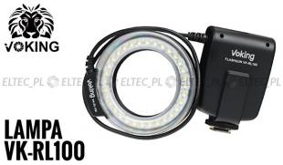 Lampa PIERŚCIENIOWA LED - BŁYSKOWA  makro, model VK-RL100 uniwersalna