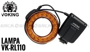 Lampa PIERŚCIENIOWA LED - BŁYSKOWA  makro, model VK-RL110 uniwersalna