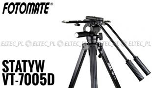 VT-7005D na kółkach - Profesjonalny statyw video 188cm