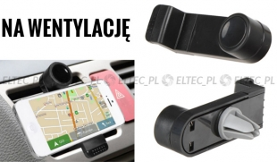 UCHWYT SAMOCHODOWY do smartfona na kratkę wentylacji (P5)