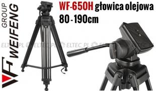 WF-650H - Statyw video 190cm z głowicą olejową