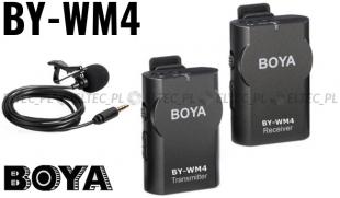 Bezprzewodowy mikrofon 2,4GHz, model BY-WM4