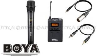 Zestaw WM6-K2: Mikrofon BY-WHM8 + odbiornik WM6R, marki Boya