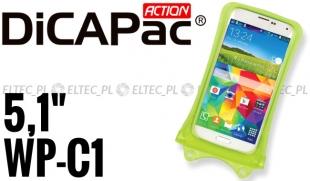 Etui, futerał wodoodporny do smartfona i iPhone ZIELONY, DICAPAC model WP-C1