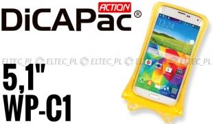 Etui, futerał wodoodporny do smartfona i iPhone ŻÓŁTY, DICAPAC model WP-C1
