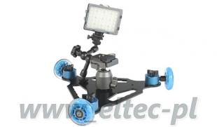 Zestaw KAMEROWY do płynnego filmowania wrotka trójkołowa 48LED W-wa