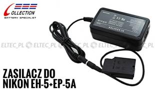 Zasilacz sieciowy do Nikon (D3100, D5200), zamiennik EH-5+EP-5A